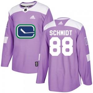 Nate Schmidt Vancouver Canucks Men's Adidas Authentic Purple Fights Cancer Practice Jersey