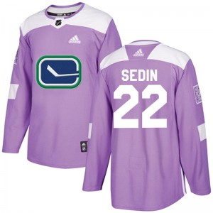 Daniel Sedin Vancouver Canucks Men's Adidas Authentic Purple Fights Cancer Practice Jersey