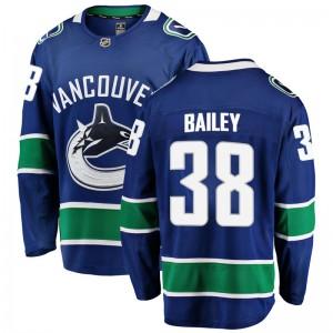 Justin Bailey Vancouver Canucks Men's Fanatics Branded Blue Breakaway Home Jersey