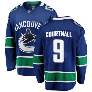 Russ Courtnall Vancouver Canucks Men's Fanatics Branded Blue Breakaway Home Jersey