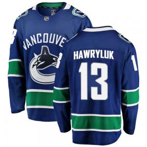 Jayce Hawryluk Vancouver Canucks Men's Fanatics Branded Blue Breakaway Home Jersey