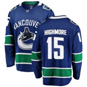 Matthew Highmore Vancouver Canucks Men's Fanatics Branded Blue Breakaway Home Jersey