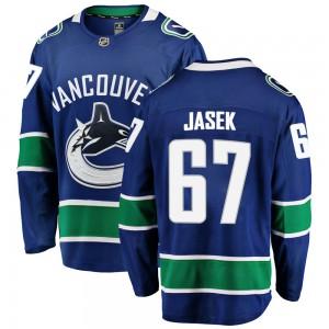 Lukas Jasek Vancouver Canucks Men's Fanatics Branded Blue Breakaway Home Jersey