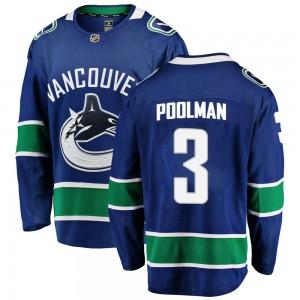 Tucker Poolman Vancouver Canucks Men's Fanatics Branded Blue Breakaway Home Jersey