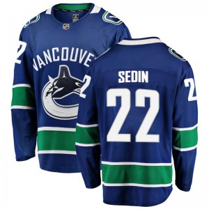 Daniel Sedin Vancouver Canucks Men's Fanatics Branded Blue Breakaway Home Jersey