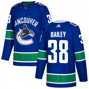 Justin Bailey Vancouver Canucks Youth Adidas Authentic Blue Home Jersey