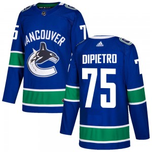 Michael DiPietro Vancouver Canucks Youth Adidas Authentic Blue Home Jersey