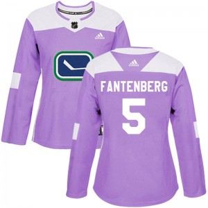 Oscar Fantenberg Vancouver Canucks Women's Adidas Authentic Purple Fights Cancer Practice Jersey