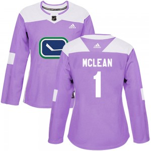 Kirk Mclean Vancouver Canucks Women's Adidas Authentic Purple Fights Cancer Practice Jersey