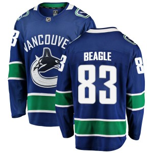 Jay Beagle Vancouver Canucks Youth Fanatics Branded Blue Breakaway Home Jersey