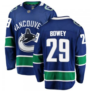 Madison Bowey Vancouver Canucks Youth Fanatics Branded Blue Breakaway Home Jersey