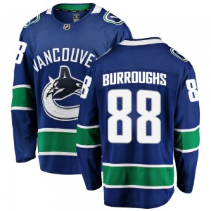 Kyle Burroughs Vancouver Canucks Youth Fanatics Branded Blue Breakaway Home Jersey