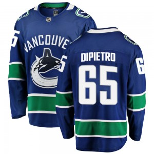 Michael DiPietro Vancouver Canucks Youth Fanatics Branded Blue Breakaway Home Jersey