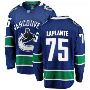 Yan Pavel Laplante Vancouver Canucks Youth Fanatics Branded Blue Yan Pavel LaPlante Breakaway Home Jersey