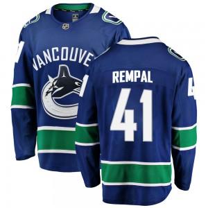Sheldon Rempal Vancouver Canucks Youth Fanatics Branded Blue Breakaway Home Jersey