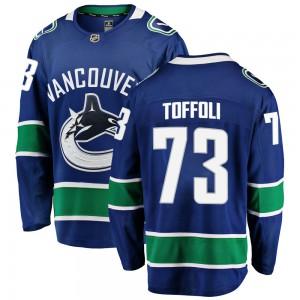 Tyler Toffoli Vancouver Canucks Youth Fanatics Branded Blue ized Breakaway Home Jersey