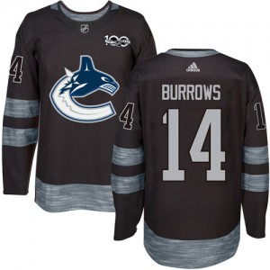 Alex Burrows Vancouver Canucks Men's Adidas Authentic Black 1917-2017 100th Anniversary Jersey