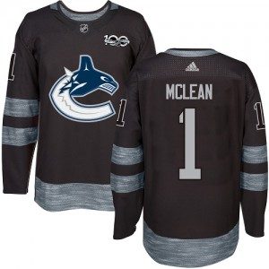 Kirk Mclean Vancouver Canucks Men's Adidas Authentic Black 1917-2017 100th Anniversary Jersey