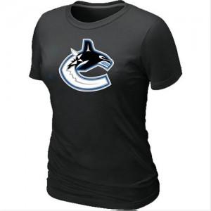 Vancouver Canucks Women's Black Big & Tall Logo T-Shirt