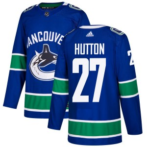 Ben Hutton Vancouver Canucks Men's Adidas Authentic Blue Jersey