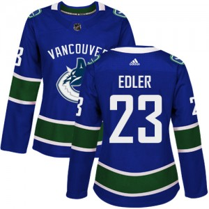 Alexander Edler Vancouver Canucks Women's Adidas Authentic Blue Home Jersey