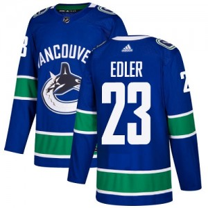 Alexander Edler Vancouver Canucks Youth Adidas Authentic Blue Home Jersey
