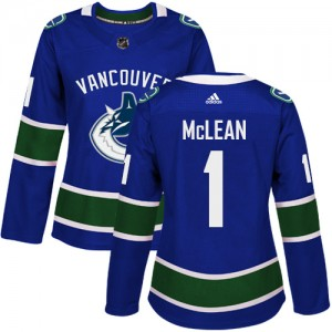 Kirk Mclean Vancouver Canucks Women's Adidas Authentic Blue Home Jersey