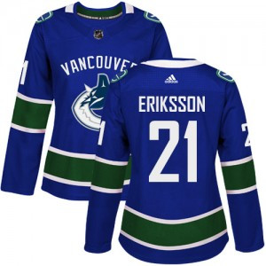 Loui Eriksson Vancouver Canucks Women's Adidas Authentic Blue Home Jersey