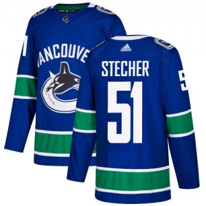 Troy Stecher Vancouver Canucks Youth Adidas Authentic Blue Home Jersey