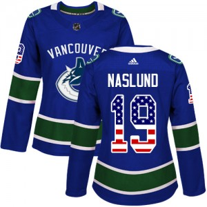 Markus Naslund Vancouver Canucks Women's Adidas Authentic Blue USA Flag Fashion Jersey