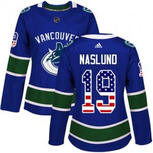 Markus Naslund Vancouver Canucks Women's Adidas Authentic Blue USA Flag Fashion Jersey