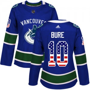 Pavel Bure Vancouver Canucks Women's Adidas Authentic Blue USA Flag Fashion Jersey