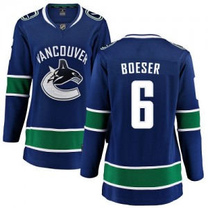 Brock Boeser Vancouver Canucks Women's Fanatics Branded Blue Home Breakaway Jersey