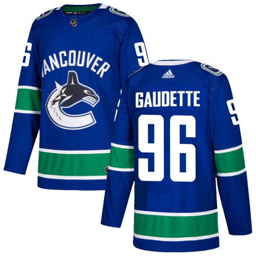 Adam Gaudette Vancouver Canucks Men's Adidas Authentic Blue Home Jersey