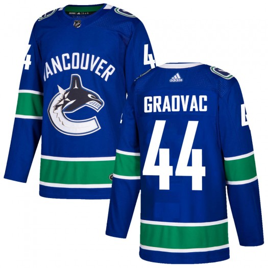 Tyler Graovac Vancouver Canucks Men's Adidas Authentic Blue Home Jersey