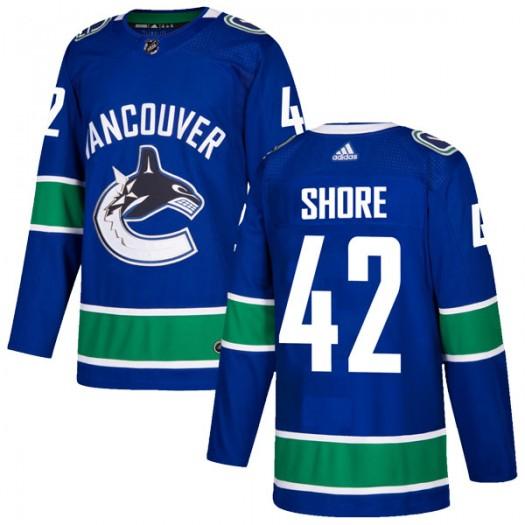 Drew Shore Vancouver Canucks Men's Adidas Authentic Blue Home Jersey