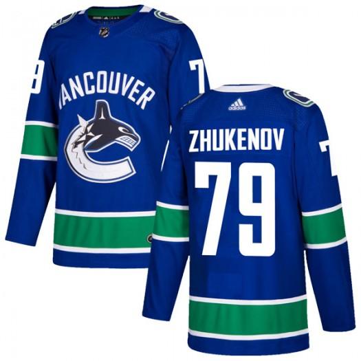 Dmitry Zhukenov Vancouver Canucks Men's Adidas Authentic Blue Home Jersey