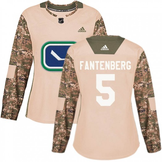 Oscar Fantenberg Vancouver Canucks Women's Adidas Authentic Camo Veterans Day Practice Jersey