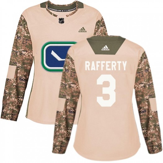 Brogan Rafferty Vancouver Canucks Women's Adidas Authentic Camo Veterans Day Practice Jersey