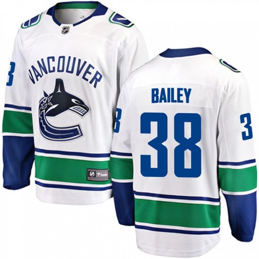 Justin Bailey Vancouver Canucks Men's Fanatics Branded White Breakaway Away Jersey