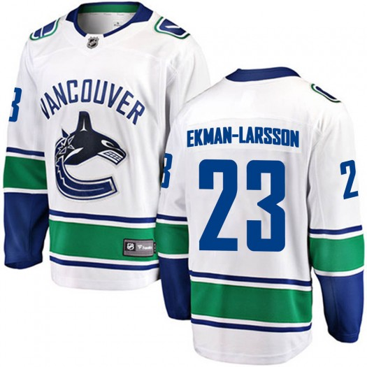 Oliver Ekman-Larsson Vancouver Canucks Men's Fanatics Branded White Breakaway Away Jersey