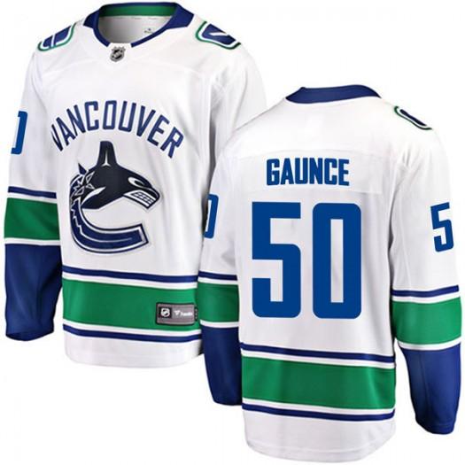 Brendan Gaunce Vancouver Canucks Men's Fanatics Branded White Breakaway Away Jersey