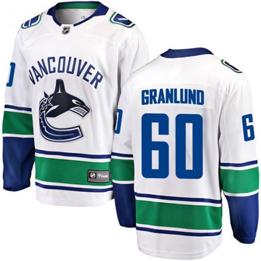 Markus Granlund Vancouver Canucks Men's Fanatics Branded White Breakaway Away Jersey
