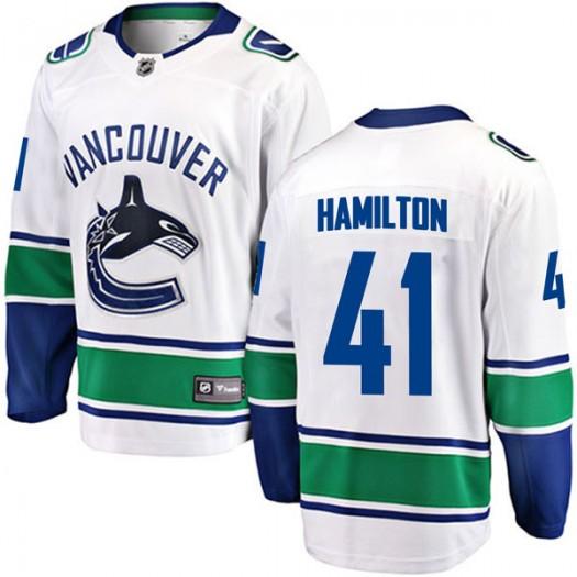 Wacey Hamilton Vancouver Canucks Men's Fanatics Branded White Breakaway Away Jersey