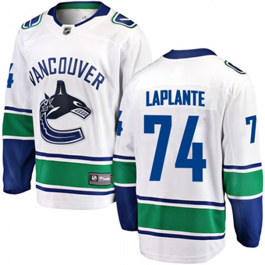 Yan Pavel Laplante Vancouver Canucks Men's Fanatics Branded White Breakaway Away Jersey