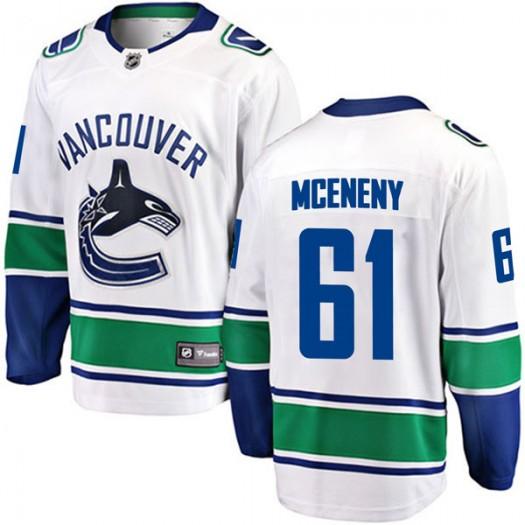 Evan McEneny Vancouver Canucks Men's Fanatics Branded White Breakaway Away Jersey