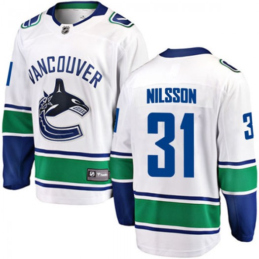Anders Nilsson Vancouver Canucks Men's Fanatics Branded White Breakaway Away Jersey
