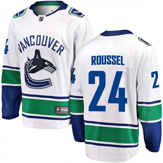 Antoine Roussel Vancouver Canucks Men's Fanatics Branded White Breakaway Away Jersey
