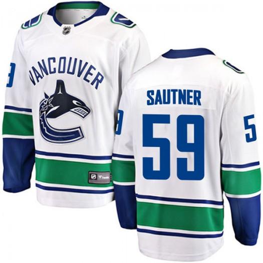 Ashton Sautner Vancouver Canucks Men's Fanatics Branded White Breakaway Away Jersey