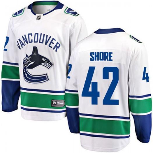 Drew Shore Vancouver Canucks Men's Fanatics Branded White Breakaway Away Jersey